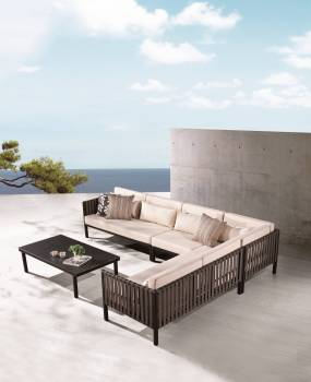 Outdoor Furniture Sets - Outdoor Sofa & Seating Sets - Garnet Sectional Sofa Set