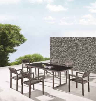 Outdoor Furniture Sets - Outdoor  Dining Sets - Garnet Dining Set For 6