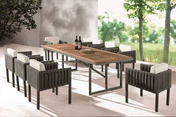 Outdoor Furniture Sets - Outdoor  Dining Sets - Garnet Dining Set For 8
