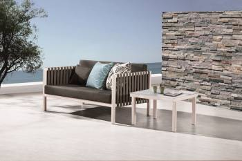 Outdoor Furniture Sets - Outdoor Sofa & Seating Sets - Garnet Loveseat Sofa Set