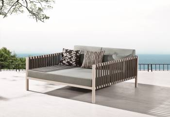 Outdoor Furniture Sets - Outdoor Chaise Lounges - Garnet Outdoor Daybed