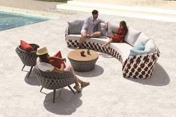 Outdoor Furniture Sets - Verona Curved Sofa Set with Chairs