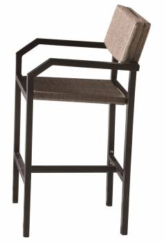 Shop By Collection and Style - Barite Collection - Barite Bar Stool With Arms