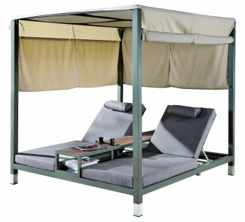 Outdoor Furniture Sets - Outdoor Daybeds - Amber Double Daybed with canopy
