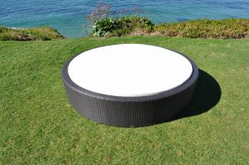 Outdoor Furniture Sets - Outdoor Daybeds - Babmar - Flatiron Round Sun Bed