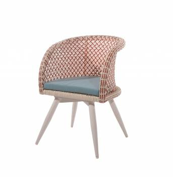 Evian Dining Chair with Woven Sides - Image 1