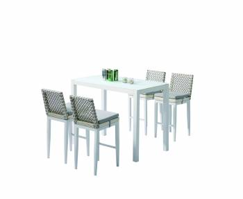 Outdoor Furniture Sets - Outdoor Bar Sets - Provence Bar Set for 4 with Armless Chairs