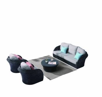 Evian Rounded 5 Seater Sofa Set with 2 Club Chairs