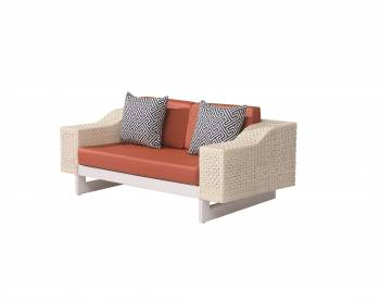 Outdoor Furniture Sets - Outdoor Sofa & Seating Sets - Provence Loveseat Sofa for 2