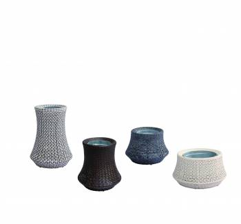 Accessories - Woven Planters - Evian Woven Vase