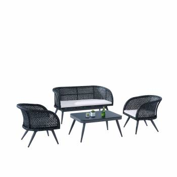 Evian Loveseat Sofa Set for 4 with two Chairs