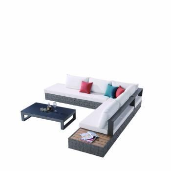 Edge Sectional Sofa Set for 5 with built in Side Table and Chaise side