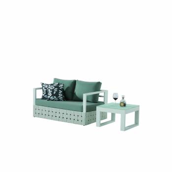 Shop By Collection and Style - Edge Collection - Edge Loveseat Sofa with Coffee Table