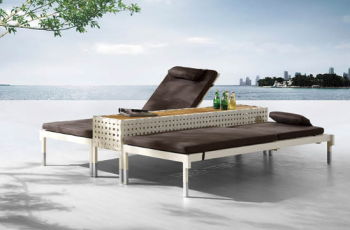 Outdoor Furniture Sets - Outdoor Chaise Lounges - Taco Double Chaise Lounge