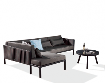 Outdoor Furniture Sets - Outdoor Sofa & Seating Sets - Garnet Sectional With Right Chaise