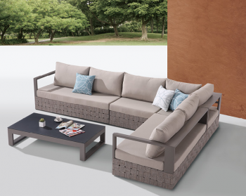 Outdoor Furniture Sets - Outdoor Sofa & Seating Sets - Edge Sectional Sofa Set for 6 with Coffee Table
