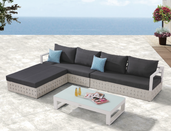 Outdoor Furniture Sets - Outdoor Sofa & Seating Sets - Edge Sectional Sofa Set for 4 with chaise ottoman and Coffee Table