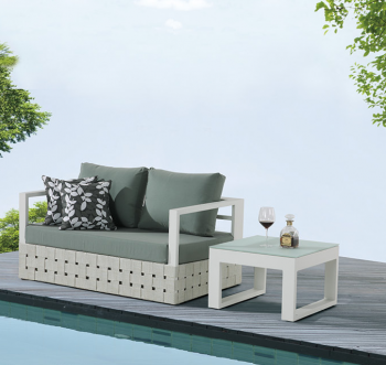 Outdoor Furniture Sets - Outdoor Sofa & Seating Sets - Edge Loveseat Sofa with Coffee Table