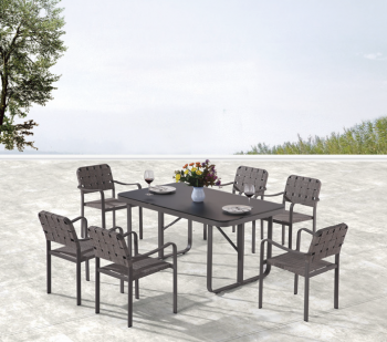 Outdoor Furniture Sets - Outdoor  Dining Sets - Edge Dining Set for 6