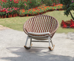 Evian Round Rocking Club Chair