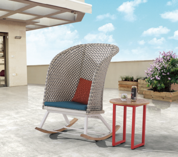 Evian Highback Rocking Club Chair - Image 3