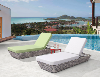 Outdoor Furniture Sets - Outdoor Chaise Lounges - Evian Single Chaise Lounge