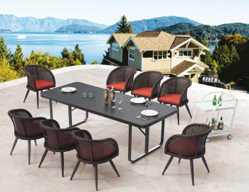 Outdoor Furniture Sets - Outdoor  Dining Sets - Evian Dining Set for 8