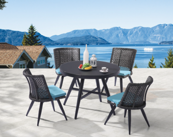 Outdoor Furniture Sets - Outdoor  Dining Sets - Evian Round Dining Set for 4