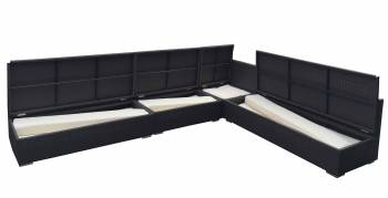 Swing 46 Armless Sectional Sofa Set with Storage Compartments