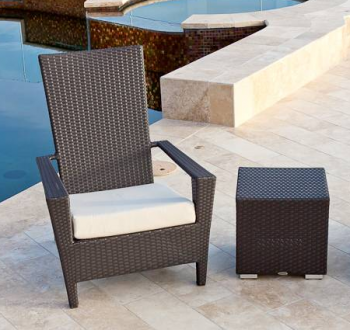 Outdoor Furniture Sets - Babmar - Martano Chair with Side Table