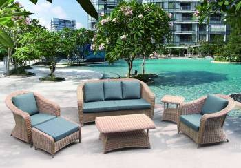 Outdoor Furniture Sets And Quick Ship Items - Outdoor Sofa & Seating Sets - Babmar - Hampton Sofa Set