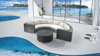 Outdoor Furniture Sets And Quick Ship Items - Outdoor Sofa & Seating Sets - Babmar - Curve Sofa Set