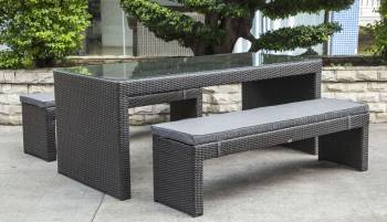Outdoor Furniture Sets - Babmar - Pandora Bench Dining Set