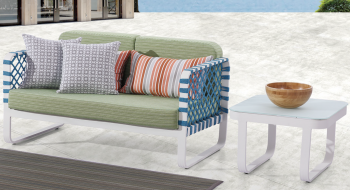 Outdoor Furniture Sets - Outdoor Sofa & Seating Sets - Dresdon Loveseat Sofa with Coffee Table