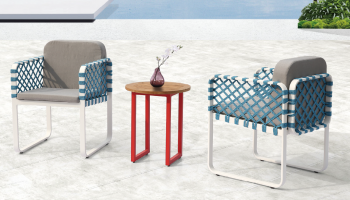 Individual Pieces - Dining Chairs - Dresdon Seating Set for 2 with woven sides