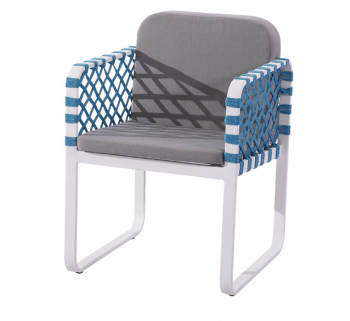 Dresdon Dining Chair with Woven Sides - Image 2