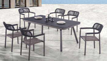 Shop by Category  - Outdoor Dining Sets - Venice Dining Set for 6 with arms