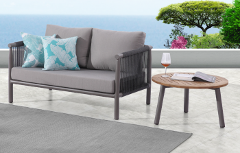 Outdoor Furniture Sets - Outdoor Sofa & Seating Sets - Venice Loveseat Sofa with Coffee Table