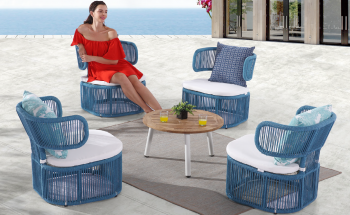 Outdoor Furniture Sets - Outdoor Sofa & Seating Sets - Venice Lounge Chair Set for 4 with coffee table