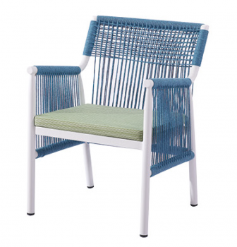 Venice Dining Chair with Woven Sides