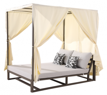 Shop By Category - Outdoor Daybeds - Tribeca Double Daybed with Canopy