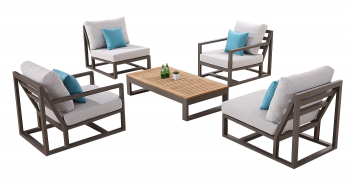 Shop By Collection - Tribeca Collection - Tribeca  Chair Set for 4 with 2 Club Chairs and 2 Armless Middle Sofa Chairs