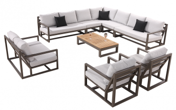 Tribeca 11 Seater Sectional with 2 Club Chairs and a Loveseat