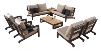 Shop By Collection - Soho Collection - Soho Sectional Sofa Set for 8 with corner Table