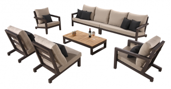 Shop By Collection - Soho Collection - Soho Sectional Sofa Set for 8 with 2 Club Chairs and 2 Middle Armless Sofas
