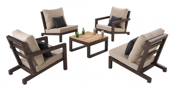 Shop By Collection - Soho Collection - Soho Club Chair Set for 4 with Square Coffee Table