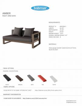 Amber Right Arm Sofa - Image 2