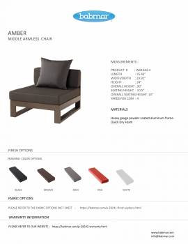 Amber Middle Armless Chair