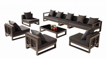 "Outdoor Furniture Sets - Outdoor Sofa & Seating Sets - Amber ""XL"" Sectional Set"