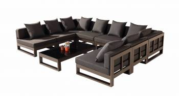 "Outdoor Furniture Sets - Outdoor Sofa & Seating Sets - Amber ""U"" Shape Sectional"
